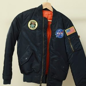 Alpha Industries NASA patched bomber jacket